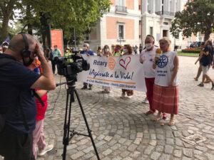 Manifestacion para la prevención del suicidio, en Madrid - Rotary